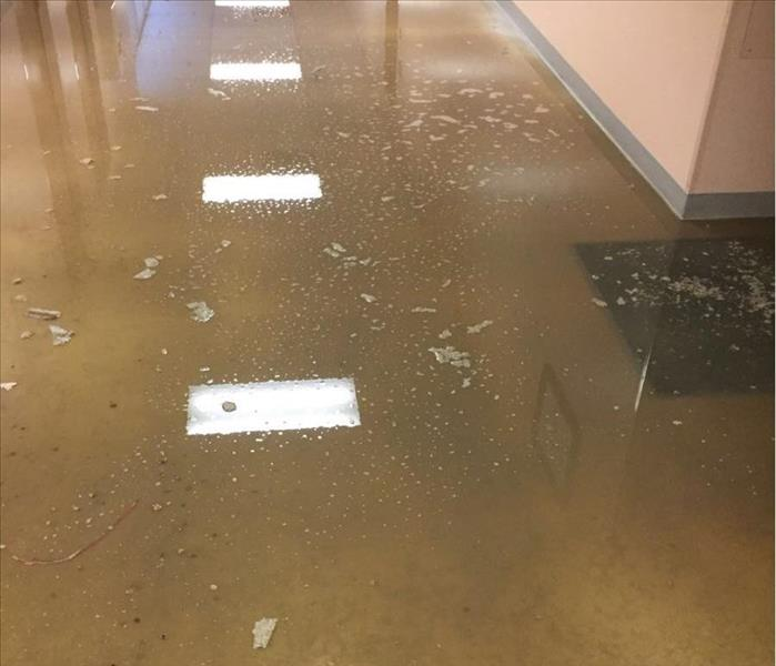 Commercial Water Damage in Creve Coeur , MO Before