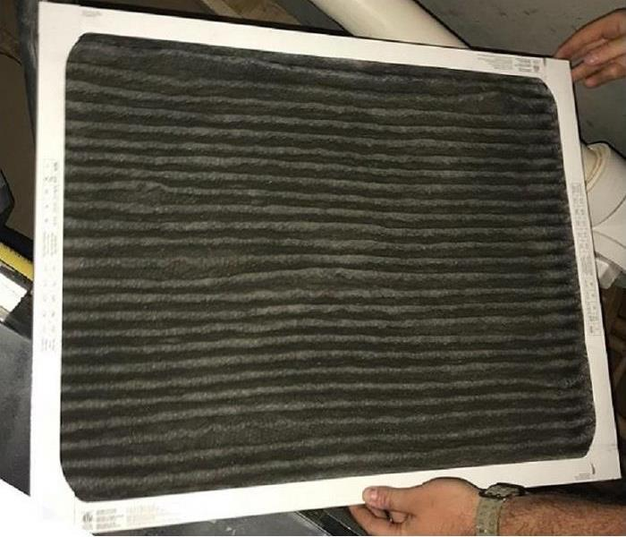 Fire Damage to your Air Filter. Fenton, MO  After
